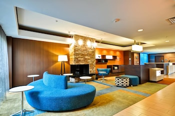 Lobby at Fairfield Inn & Suites Dallas Medical/Market Center in Dallas