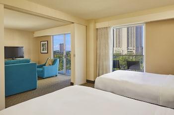Suite, 2 Queen Beds, Partial Ocean View (Alana)