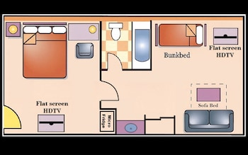 Suite, 2 Bedrooms, Non Smoking, Refrigerator & Microwave (2nd and 3rd beds are bunk beds)