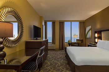 Guestroom at Hilton Galveston Island Resort in Galveston