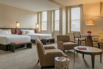 Guestroom at The Bellevue Hotel, in the Unbound Collection by Hyatt in Philadelphia