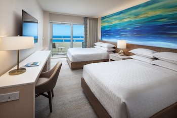 Room, 2 Double Beds, Oceanfront (High Floor, Renovated Room)
