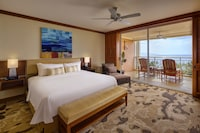 <p><strong>1 King Bed and 1 Double Sofa Bed</strong></p><p>1300-sq-foot (121-sq-meter) room, furnished lanai with partial ocean views</p><br/><p><b>Relax</b> - In-room massage available</p><p><b>Internet</b> - Free WiFi and wired Internet access</p><p><b>Entertainment</b> - 37-inch LED TV with premium channels, pay movies, DVD player</p><p><b>Food & Drink</b> - Kitchenette with refrigerator and coffee/tea maker</p><p><b>Sleep</b> - Premium bedding </p><p><b>Bathroom</b> - Private bathroom, deep soaking bathtub and separate shower</p><p><b>Practical</b> - Phone, safe, and iron/ironing board</p><p><b>Comfort</b> - Air conditioning and daily housekeeping</p><p>Non-Smoking</p><p>Connecting/adjoining rooms can be requested, subject to availability </p>&nbsp;