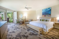 <p><strong>1 King Bed and 1 Double Sofa Bed</strong></p><p>1300-sq-foot (121-sq-meter) room, furnished lanai with partial ocean views</p><br/><p><b>Relax</b> - In-room massage available</p><p><b>Internet</b> - Free WiFi and wired Internet access</p><p><b>Entertainment</b> - 37-inch LED TV with premium channels, pay movies, DVD player</p><p><b>Food & Drink</b> - Refrigerator, coffee/tea maker,  24-hour room service, and free bottled water</p><p><b>Sleep</b> - Premium bedding </p><p><b>Bathroom</b> - Private bathroom, deep soaking bathtub and separate shower</p><p><b>Practical</b> - Phone, safe, and iron/ironing board</p><p><b>Comfort</b> - Air conditioning and daily housekeeping</p><p>Non-Smoking</p><p>Connecting/adjoining rooms can be requested, subject to availability </p>&nbsp;