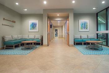 Lobby at Wyndham Virginia Beach Oceanfront in Virginia Beach