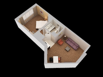 Suite, 1 King Bed with Sofa bed, Corner