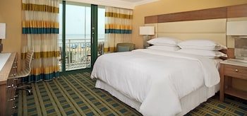 Guestroom at Sheraton Virginia Beach Oceanfront Hotel in Virginia Beach