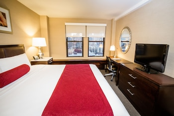 Guestroom at The Belvedere Hotel in New York