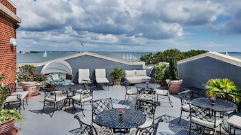 Balcony View at HarbourView Inn in Charleston