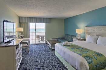 Standard Room, 1 King Bed with Sofa bed, Beach View