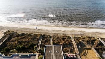 Aerial View at Seaside Inn Oceanfront in Isle of Palms
