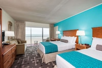 Standard Room, Oceanfront (2 double  and 1 sofa) at Howard Johnson by Wyndham Ocean City Oceanfront in Ocean City