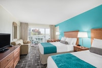 Premier Room, Partial View (2 double and 1 sofa) at Howard Johnson by Wyndham Ocean City Oceanfront in Ocean City