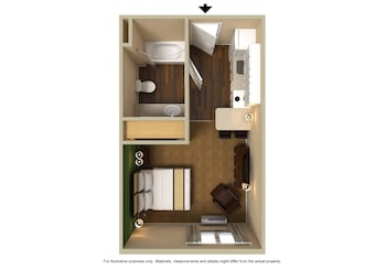 Guestroom at Extended Stay America - Las Vegas - Midtown in Las Vegas