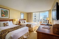 <p><strong>2 Double Beds or 1 King Bed</strong></p><p>315-sq-foot (29.27-sq-meter) room, furnished lanai with partial ocean views</p><br/><p><b>Internet</b> - Free WiFi </p><p><b>Entertainment</b> - 49-inch LCD TV, cable channels, and DVD player</p><p><b>Food & Drink</b> - Refrigerator, coffee/tea maker, and electric kettle</p><p><b>Sleep</b> - Blackout drapes/curtains and linens </p><p><b>Bathroom</b> - Private bathroom, spring water bathtub </p><p><b>Practical</b> - Free local calls, safe, and iron/ironing board; rollaway/extra beds and free cribs/infant beds available on request</p><p><b>Comfort</b> - Air conditioning and daily housekeeping</p><p>Non-Smoking</p><p>Connecting/adjoining rooms can be requested, subject to availability </p>&nbsp;