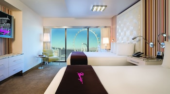 Go Room, 2 Queen Beds, Non Smoking, High Roller View