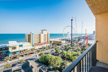 Guestroom View at Aqua Beach Inn in Myrtle Beach