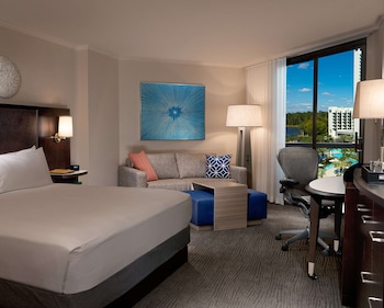 Suite, 1 King Bed, Accessible (Mobility & Hearing, Roll-in Shower)