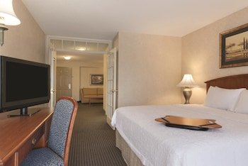 King Suite with Living Room, Sofa Sleeper, Kitchenette, and a Single Person Jetted Tub