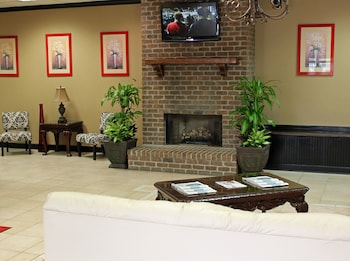 Lobby Sitting Area at Cottonwood Suites Savannah Hotel & Conference Center in Pooler