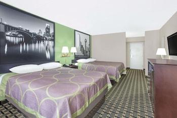 Guestroom at Super 8 by Wyndham Grand Prairie North in Grand Prairie