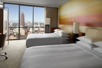 Room, 2 Double Beds, Non Smoking, View (Skyline View)