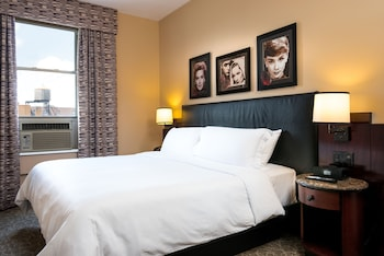 Guestroom at Washington Square Hotel in New York