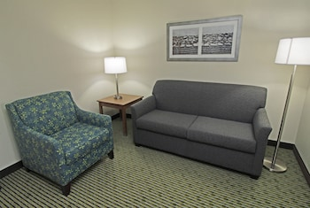 Living Area at Quality Suites Lake Wright - Norfolk Airport in Norfolk