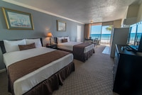 Double Room, 2 Double Beds, Kitchenette, Beachside
