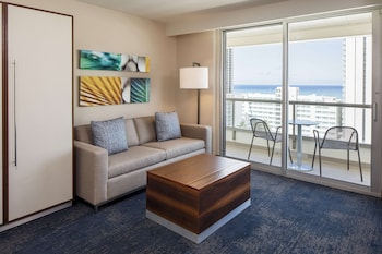 Suite, 2 Double Beds, Partial Ocean View
