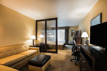 Junior Suite, 1 King Bed, Non Smoking, Refrigerator & Microwave (Safe)