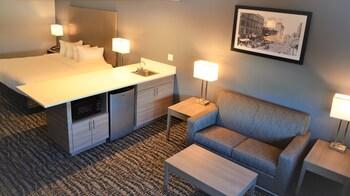 Room, 1 King Bed, Refrigerator & Microwave
