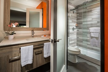 Bathroom at Canoga Hotel in Canoga Park