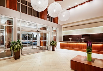 Lobby at InterContinental Suites Hotel Cleveland in Cleveland