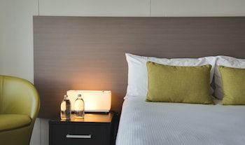 Guestroom at The Point Brisbane Hotel in Kangaroo Point