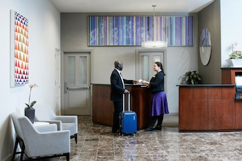 Reception at Club Quarters Hotel in Philadelphia in Philadelphia
