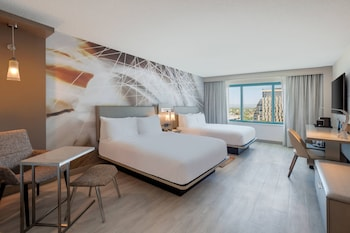 Room, 2 Double Beds, Balcony, City View