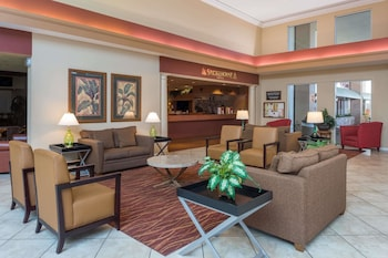 Lobby at Ramada by Wyndham Kissimmee Gateway in Kissimmee