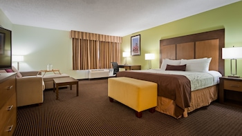 Business Suite, 1 King Bed, Non Smoking, Refrigerator & Microwave