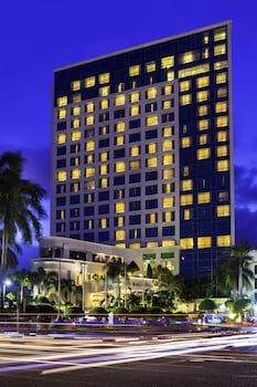 Marco Polo Davao Hotel Front - Evening/Night