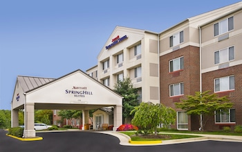 Hotel Front at SpringHill Suites by Marriott Herndon Reston in Herndon