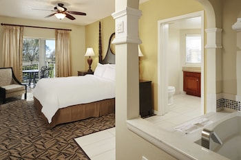 Guestroom at Hilton Grand Vacations at SeaWorld in Orlando