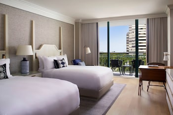 City Room, 2 Double Beds, Balcony, City View