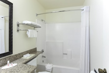 Guestroom at Super 8 by Wyndham San Diego Hotel Circle in San Diego