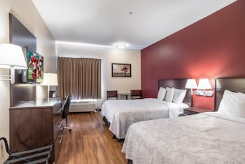 Standard Room, 2 Double Beds, Accessible (Roll-In Shower, Smoke Free)