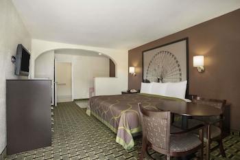 Guestroom at Super 8 by Wyndham Grand Prairie Southwest in Grand Prairie