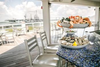 Dining at Harborside at Charleston Harbor Resort and Marina in Mount Pleasant
