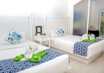Deluxe Double Room with Two Double Beds with Walkout Terrace