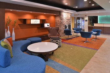 Lobby at Fairfield Inn & Suites by Marriott Mount Laurel in Mount Laurel