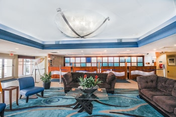 Lobby Lounge at Bay Watch Resort & Conference Center by Oceana Resorts in North Myrtle Beach